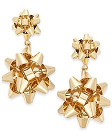 Gold-Tone Bow Drop Earrings, Created For Macy's