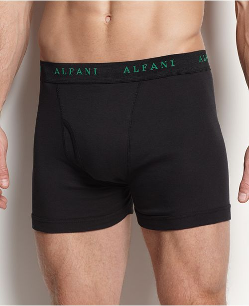 65f9758d57fa Alfani Men's 4 Pack. Cotton Boxer Briefs, Created for Macy's ...