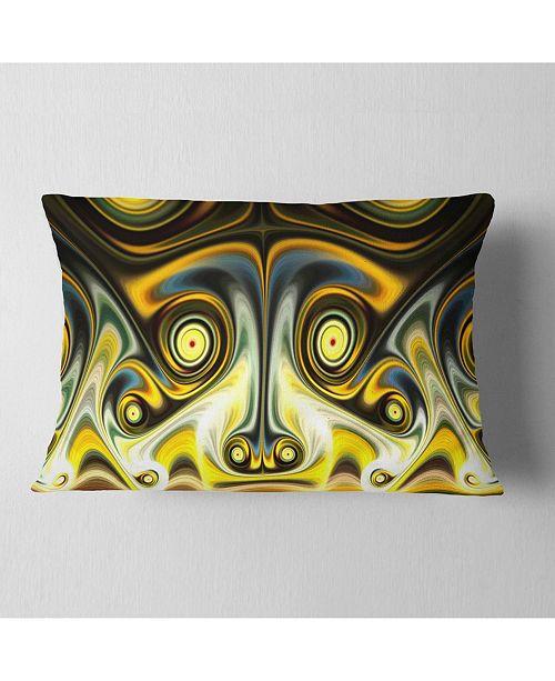 Design Art Designart Unique Light Yellow Fractal Design Pattern Abstract Throw Pillow 12 X 20 Reviews Decorative Throw Pillows Bed Bath Macy S