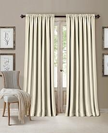 "All Seasons Faux Silk 52"" x 95"" Blackout Curtain Panel"
