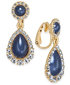 Crystal & Imitation Pearl Clip-On Drop Earrings, Created For Macy's