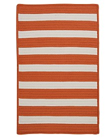 Colonial Mills Stripe It Tangerine 2' x 3' Accent Rug