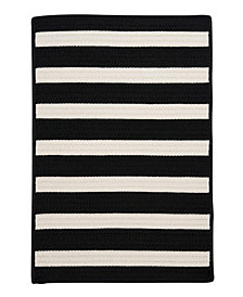 Colonial Mills Stripe It Black White 2' x 3' Accent Rug