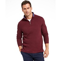 Deals on Club Room Mens Quarter Zip French Rib Pullover Sweater