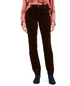 Petite Lexington Straight-Leg Corduroy Pants, Created for Macy's