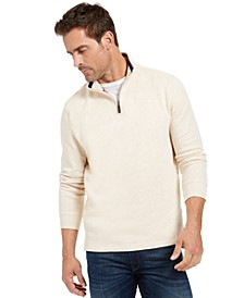 Men's Quarter-Zip French Rib Pullover, Created for Macy's