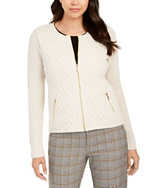 Charter Club Quilted Sweater Jacket, Created for Macy's