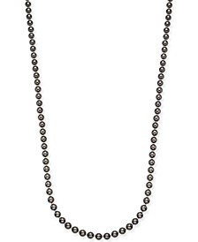 "Gold-Tone Imitation Mocha Pearl Strand Necklace, 42"" + 3"" extender, Created For Macy's"