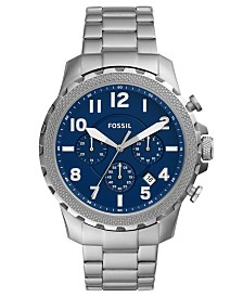 Fossil Men's Chronograph Bowman Stainless Steel Bracelet Watch 46mm