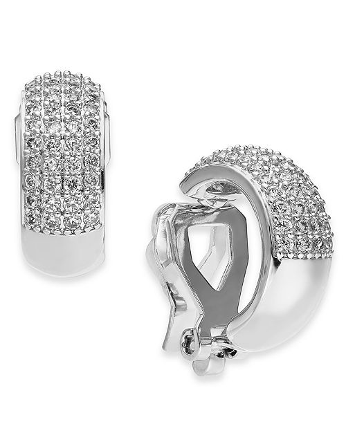 Eliot Danori Danori Cubic Zirconia Pavé Clip-On Huggie Hoop Earrings, Created For Macy's