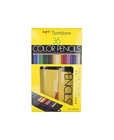Tombow 1500 Series Colored Pencils, 36-Piece Set in Roll Up Case