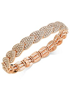INC Rose Gold-Tone Crystal Pavé Stretch Bracelet, Created For Macy's