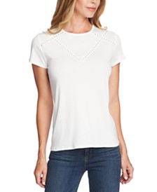 Vince Camuto Studded-Trim Top