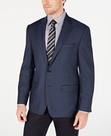 Lauren Ralph Lauren Men's Classic-Fit UltraFlex Stretch Blue Mini-Check Sport Coat