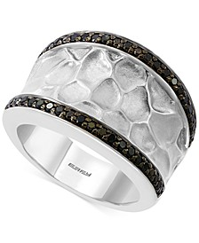 EFFY® Diamond Textured Statement Ring (3/8 ct. t.w.) in Sterling Silver