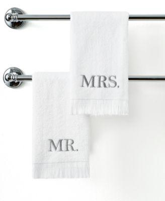 "Bath Towels, Mr. & Mrs. 11"" x 18"" Fingertip Towel"