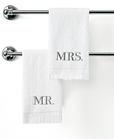 "Bath Towels, Mr. & Mrs. 11"" x 18"" Fingertip Towel"