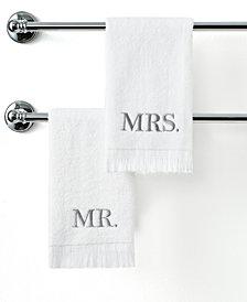 "Avanti Bath Towels, Mr. & Mrs. 11"" x 18"" Fingertip Towel"