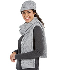 Cable-Knit Hats, Headbands & Scarf