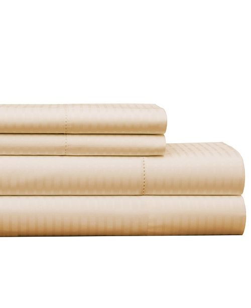 Pointehaven 450 Thread Count Dobby Cotton Queen Sheet Set
