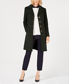Anne Klein Single-Breasted Walker Coat, Created for Macy's