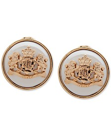Lauren Ralph Lauren Gold-Tone & Imitation Pearl Crest Clip-On Button Earrings