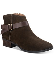 Briana Suede Booties, Created for Macy's