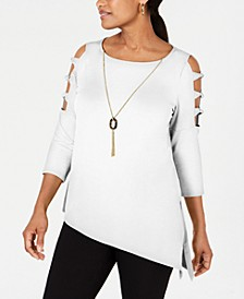Asymmetrical-Hem Ladder-Sleeve Top, Created for Macy's