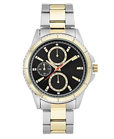 INC Men's Two-Tone Bracelet Watch 44mm, Created for Macy's