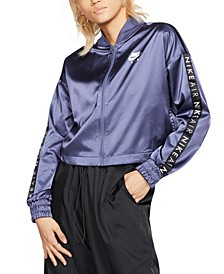 Women's Air Cropped Satin Track Jacket