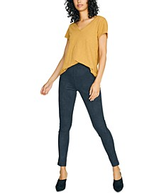 Faux-Suede Grease Legging