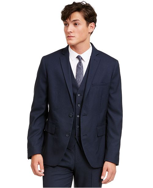 INC International Concepts INC Men's Slim-Fit Micro Check Suit Jacket, Created for Macy's