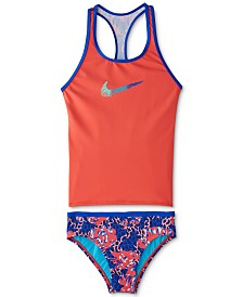 Nike Big Girls 2-Pc. Racerback Tankini Swim Suit