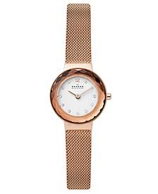 Women's Leonora Rose Gold-Tone Stainless Steel Mesh Bracelet Watch 25mm