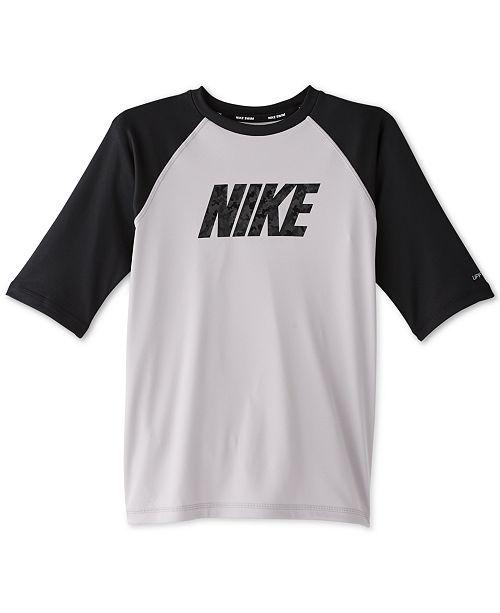 Nike Camo Logo Short Sleeve Hydroguard