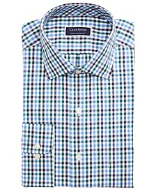 Men's Big & Tall Classic/Regular-Fit Stretch Wrinkle-Resistant Gingham Dress Shirt, Created For Macy's