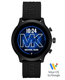 Access MKGO Black Silicone Strap Touchscreen Smart Watch 43mm, Powered by Wear OS by Google™