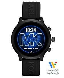 Michael Kors Access MKGO Black Silicone Strap Touchscreen Smart Watch 43mm, Powered by Wear OS by Google™