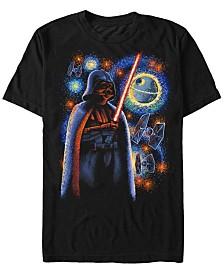 Star Wars Men's Classic Darth Vader Starry Night Short Sleeve T-Shirt