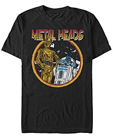 Men's Classic R2-D2 And C-3Po Metal Heads Short Sleeve T-Shirt