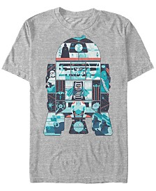 Star Wars Men's Classic R2-D2 Behind The Scenes Short Sleeve T-Shirt