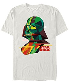 Men's Classic Geometric Darth Vader Short Sleeve T-Shirt