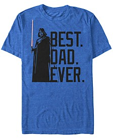 Star Wars Men's Classic Darth Vader Best Dad Ever Short Sleeve T-Shirt