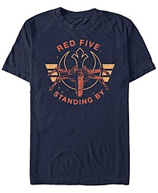 Men's Classic Red Five Standing By Short Sleeve T-Shirt