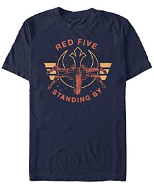 Star Wars Men's Classic Red Five Standing By Short Sleeve T-Shirt