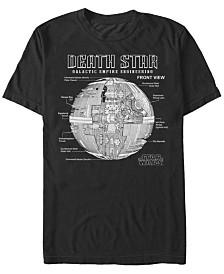 Star Wars Men's Classic Death Star Galactic Engineering Short Sleeve T-Shirt