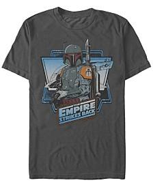 Star Wars Men's Classic Boba Fett Empire Strikes Back Logo Short Sleeve T-Shirt