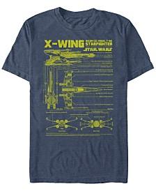 Star Wars Men's X-Wing Starfighter Model Short Sleeve T-Shirt