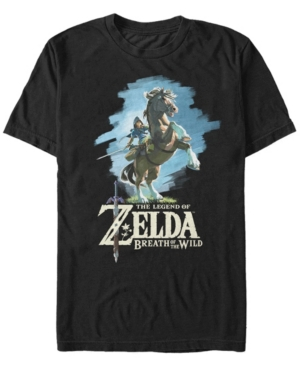 Nintendo Men's Legend of Zelda Link Breath of The Wild Short Sleeve T-Shirt