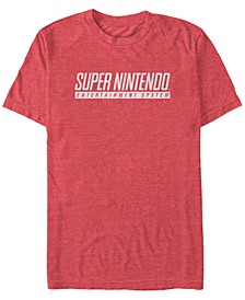 Men's Snes Super Nintendo Entertainment System Text Short Sleeve T-Shirt
